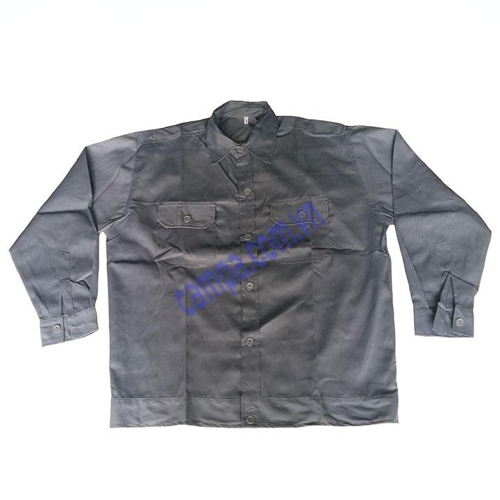 áo công nhân màu xám