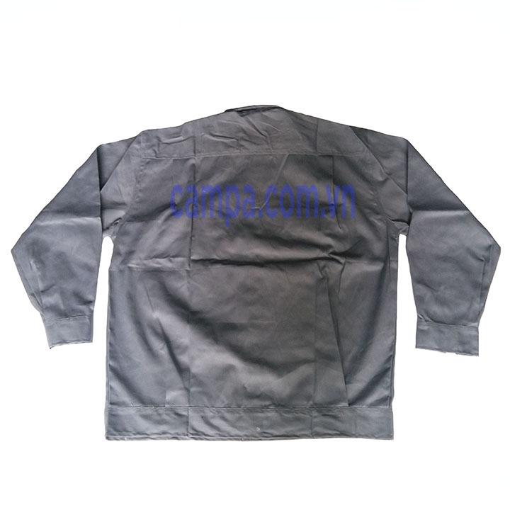 áo công nhân màu xam