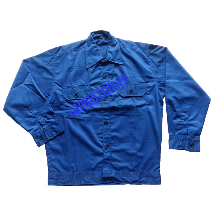 áo công nhân màu xanh biển