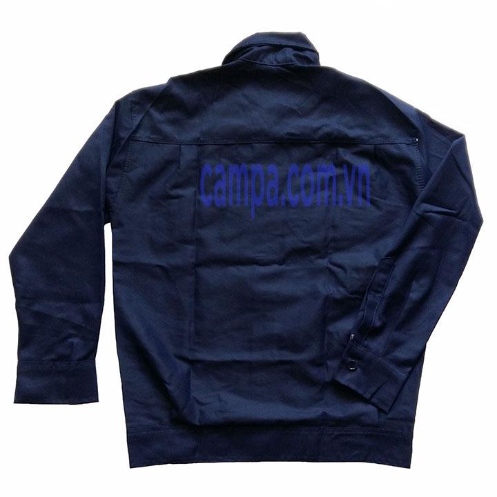 áo công nhân màu xanh đen kaki