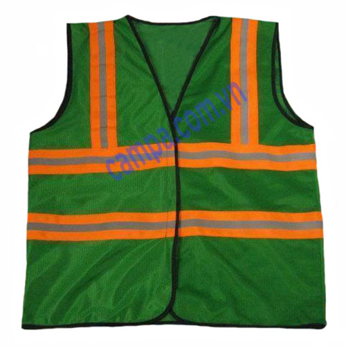 áo phản quang lưới xanh