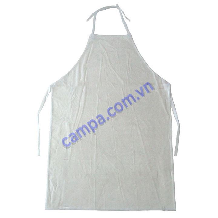 tạp dề nilon trắng